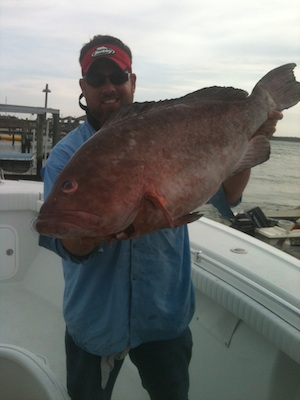 Fishing Charter Captain and Grouper
