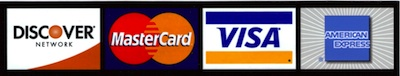 We accept credit cards.
