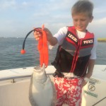 Figure Eight Island Fishing Charters, First Flounder, Family Fishing Charters