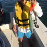 Wilmington, NC Kids Fishing Charters First Bluefish