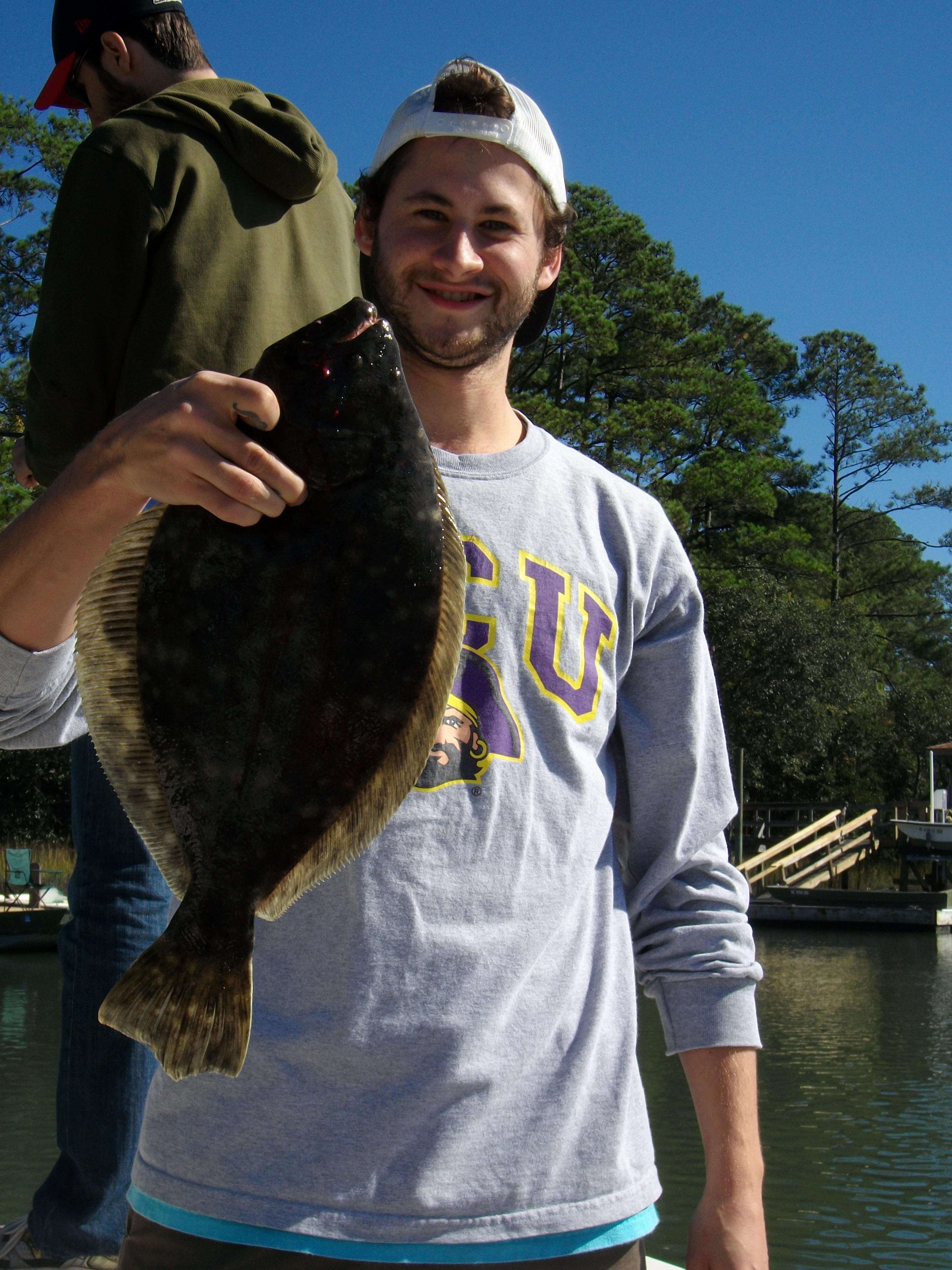 Nice Southern Flounder - Figure Eight Charter Fishing