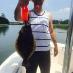 Topsail Beach Flounder Fishing Charters, Inshore Charter Fishing Boats