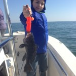 Kid Fishing Charters Winter Black Seabass