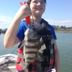 Kids Fishing Black Drum