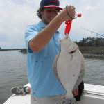 BIG inshore flounder on our Wrightsville Beach Fishing Charters