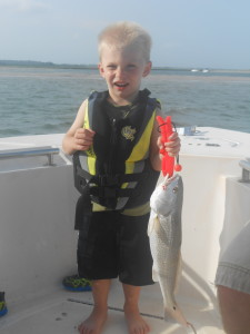 3yo First Red Drum!