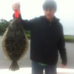 Huge Flounder in the rain